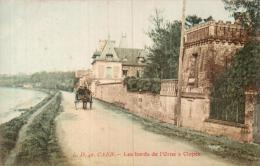 14 CAEN LES BORDS DE L'ORNE A CLOPEE ATTELAGE PAS CIRCULEE - Caen