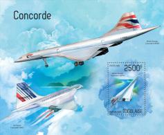 tg14220b Togo 2014 Concorde s/s