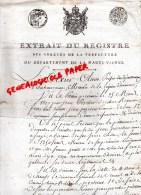 87 - RILHAC RANCON - EXTRAIT DU REGISTRE PREFECTURE HAUTE VIENNE- TEXIER OLIVIER PREFET- JEAN PORCHER-1807 - Manuscrits
