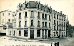 N°39450 -cpa Poissy -rue De L'église Et De La Caserne- - Poissy