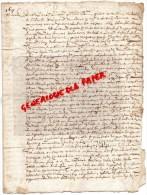 87 - LA BROUSSE BUJALEUF- ACTE NOTARIE GABRIEL DE LANAUD SAINT LEONARD DE NOBLAT-1617 - Manuscrits