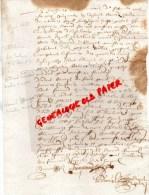 87 - SAINT LEONARD DE NOBLAT - 1653- LA SALERIE SAINT BONNET DE BRIANCE-LEONARD FOUCAUD -LEONARD BLANZAT - Manuscrits