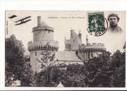 Carte 1910 Alençon : Château Des Ducs D'Alençon (macaron Aviateur Et Avion,aviation) - Alencon