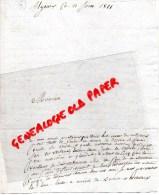 87 - SAINT YRIEIX LA PERCHE- SAINT GERMAIN LES BELLES- 1811- ETIENNE LARIVIERE PDT TRIBUNAL LIMOGES - Manuscrits