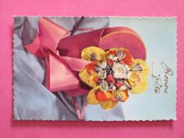 BONNE FETE - Bouquet De Fleurs (CP Glacée) - Feiern & Feste