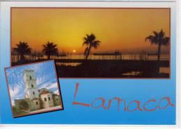 CYPRUS - LARNACA, Multi View   , Large Format, Nice Stamp - Cyprus