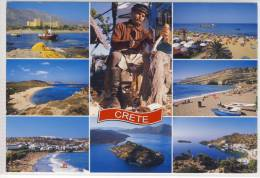 GREECE - GRECE: CRETE - Multi View, Type, Typical Scenes ,  Large Format,  Nice Stamp 2006 - Europe