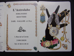 """Calendrier petit format : Horlogerie, Bijouterie Gallois & Fils """"L'ASTROLABE"""" 21000 DIJON - Illustrations sign�es"""