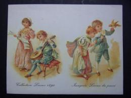 Calendrier petit format : Chicor�e LEROUX - Collection Leroux 1890 - Imagerie Leroux du pass� - Couples d'Enfants