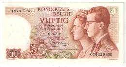 BELGIQUE - BELGIE - 50 Francs - 50 Frank - 1966 - [ 2] 1831-... : Royaume De Belgique