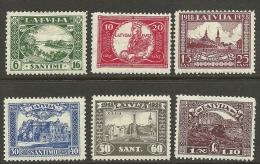 LETTLAND Latvia 1928 Michel 138 - 143 A * - Latvia