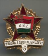 HUNGARY - KISZ, 1957. enamel, vintage pin, badge, communism