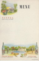 Menu / Vierge/Vittel/Saison 25 Mai -20 Septembre/ Grande Source/Vittelloise /vers 1935      MENU100 - Menus