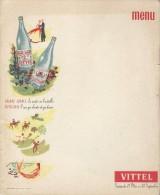Menu Grand Format  /vierge/ Vittel/grande Source/Vittelloise/ Dauphine /paris / Vers 1935   MENU106 - Menus