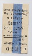 Pappfahrkarte - Deutsche Reichsbahn --->  Altef�hr - Samtens