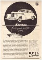 Original Werbung - 1938 - OPEL KAPITÄN - Rüsselsheim A.G. , Oldtimer !! - KFZ