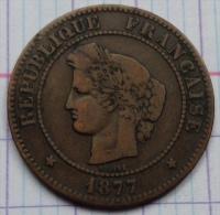 France - 5 Centimes - 1877 A - Cérès - France