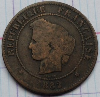 France - 5 Centimes - 1882 A - Cérès - France