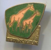 BERLIN - TIERPARK, Germany, Vintage Pin, Badge, Giraffe - Animaux