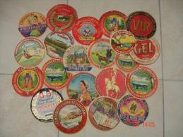 Lot De 21 Etiquettes De Fromage Anciennes. - Fromage