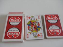 jeu de 32 cartes � jouer - BIERES BAVIK - BRASSERIES