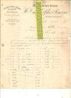 75 - Paris - PARIS - Facture TASSEL & RACINE - Laines, Crins, Plumes, Duvets, Couvertures – 1895 - REF 105 - Royaume-Uni