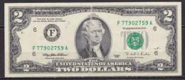 USA 1995 $ 2 Dollar Bill Circulated FW F 4 See Scan - Biljetten Van De  Federal Reserve (1928-...)