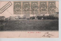 TP 53(5) s/CP au Littoral  La Digue c.Ambt Brux-Arlon N�2+Griffe encadr�e Straimont en 1907 v.Paris PP805