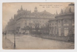 75 - PARIS LA CRUE DE LA SEINE - GARE D'ORSAY 29 Janvier 1910 - Non Circulée - Publicité PONCHAUD - 2 Scans - - Alluvioni Del 1910
