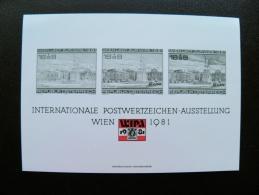 Souvenir Card From Austria Wipa Wien 1981 - Entiers Postaux