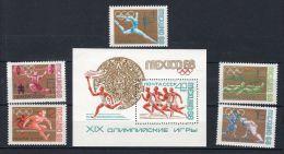 Jeux Olympiques à Mexique, RUSSIE, YT 3388  3392 + Bloc 50,  Neuf **, Lot 42278 - Ete 1968: Mexico