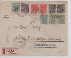 Uruguay registered cover Juan Lacaze birds Stamps 1927 to Checoslovaquia P809