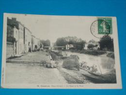 79) Coulon - N° 15 - Le Quai Et Le Pont ( Laveusses )   - Année  - EDIT- Ménard - Coulonges-sur-l'Autize