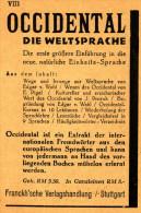 Original-Werbung/ Anzeige 1930 - PLANSPRACHE OCCIDENTAL ( Heute: Interlingue )- Ca. 70 X 110 Mm - Publicités