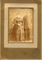 RETRATO-PORTRAIT PAREJA DE ENAMORADOS-PAIR OF LOVERS- COUPLE D´ AMOUREUX-TEXTURE COUVERT NON CIRCULEE- CIRCA 1900-GECKO. - Koppels