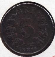 NORGE NORWAY NORVEGE 5 øre 1876 - Oscar II - Norvège