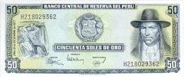 Peru 50 Soles De Oro 1977 Pick 113 UNC - Perù