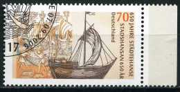 BRD - Mi 2558 - OO Gestempelt (F) - 70C          650 Jahre Hanse - [7] République Fédérale