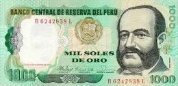 Peru 1000 Soles De Oro 1981 Pick 122 UNC - Pérou