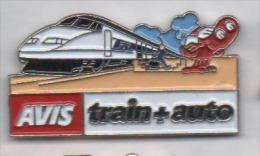 Beau Pin's , Transport Train SNCF TGV , AVIS , Train + Auto - TGV