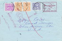 878/22 - Aérogramme 14 F + TP Lions Héraldiques TOURNAI 1983 Vers USA Et RETOUR - TARIF 22 F - Stamped Stationery