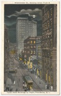 Westminster St., Showing Union Trust & Turks Head Buildings By Night, Providence, R.I. - Providence