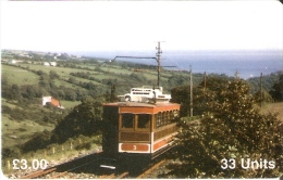 MAN-90 TARJETA DE LA ISLA DE MAN DE UN TRANVIA (TRAIN-ZUG-TREN) NUEVA-MINT - Isla De Man