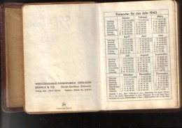 Switzerland/Schweiz- Agenda 1943-Kalender -Werkzeugmaschinenfabrik Oerlikon B�hrle&Co. Z�rich - 10 scans