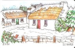 MAN-126 TARJETA DE LA ISLA DE MAN DE NAVIDAD (CHRISTMAS) TIRADA 6000 - Isla De Man