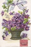 VIOLETTES/GAUFREE / Réf:C2368 - Fleurs, Plantes & Arbres