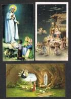 Italia-  3 Santini Come Scansioni  Cm. 10,5 X Cm. 6,00 - Devotion Images