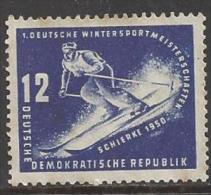 1950 12pf Olympics, Skiing, used