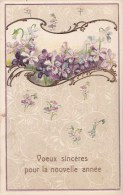VIOLETTES/GAUFREE/Réf:C2369 - Fleurs, Plantes & Arbres