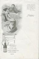Menu/Vierge/ Vins De Bourgogne/ Adrien Sarrazin / Javillier/ Dijon /Imprimerie Bataille/Paris/ Vers 1900-1910    MENU107 - Menus
